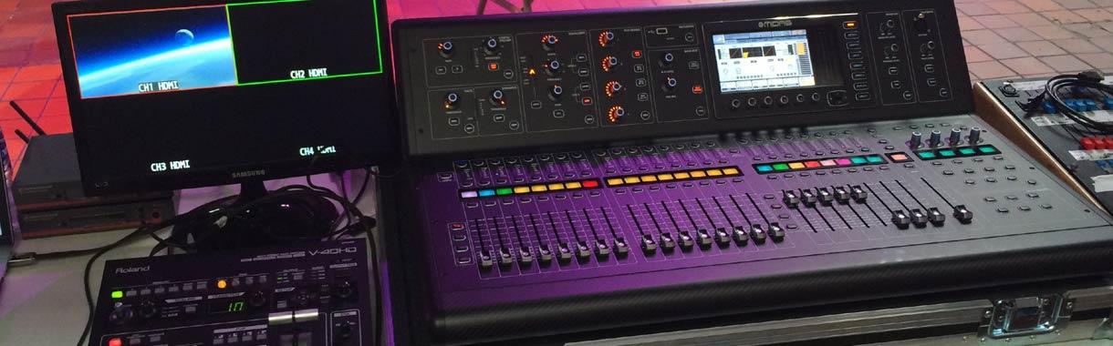 pa system midas sound desk