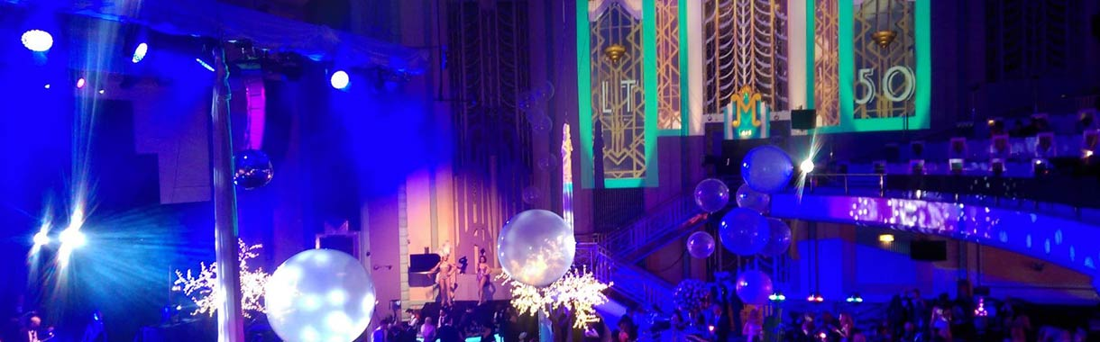 projection mapping corporate party