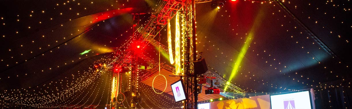 truss lighting rig bloomsbury bigtop