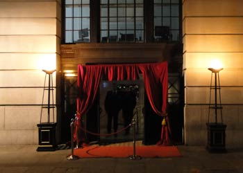 pipe and drape venue entrance