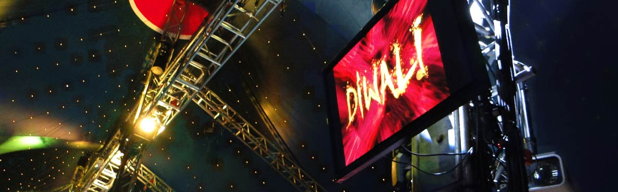 plasma screens bigtop venue