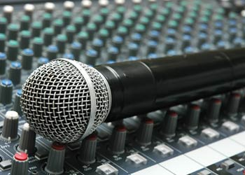 Pop up events audio equipment
