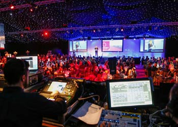 awards ceremony lighting desk