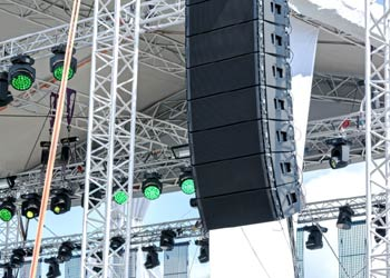 Sound systems speaker hire